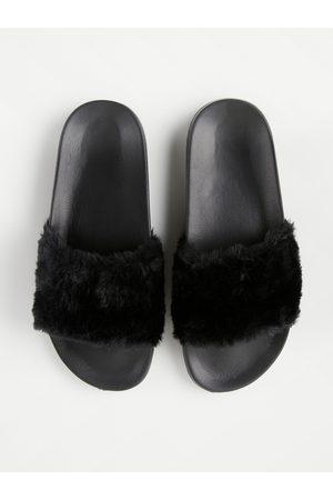 Lindex Flicka Sandaler - Slip in-sandaler med fuskpäls