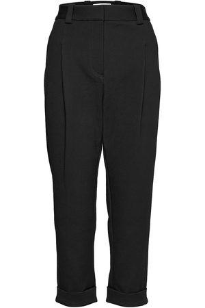 3.1 Phillip Lim Kvinna Dressade byxor - P212-5077elv / Pleat Front Tapered Cuffed Tailored Trouser Byxa Med Raka Ben