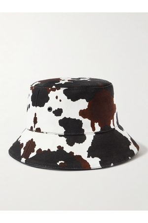 Burberry Cow-Print Cotton-Twill Bucket Hat