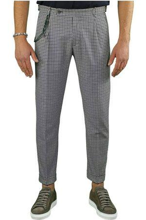 Berwich Retro Vichy Chino Trousers