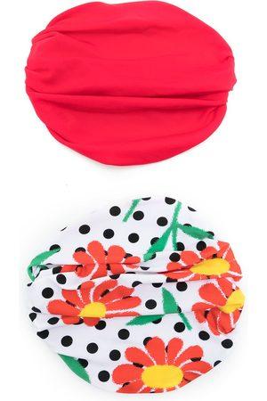 AMIR SLAMA Kvinna Hattar - 2-pack bandanamönstrad hatt