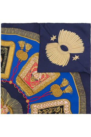 Hermès Pre-owned Poste et Cavalerie sjal från 1990-talet