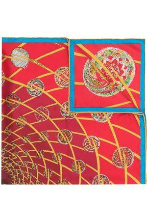 Hermès Sjalar - Pre-owned Les Feux de L'Espace sjal från 1990-talet