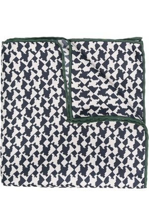Canali Abstract-print silk scarf