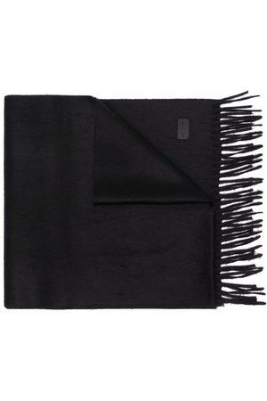 Saint Laurent Logo-patch cashmere scarf