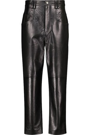 Isabel Marant Dipadelac high-rise slim leather pants