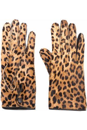 Maison Margiela Kvinna Handskar - Leopard-print gloves