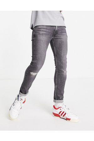 Levis Levi's – 519 – Svarta slitna super skinny jeans i hi-ball-design med tvättad finish- /a