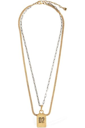 Dsquared2 Man Halsband - D2 Double Two Tone Chain Necklace