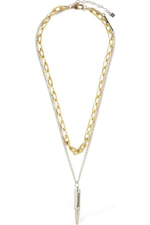 Dsquared2 Man Halsband - Talisman Double Two Tone Chain Necklace