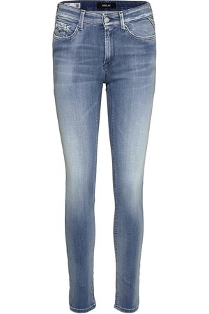 Replay Luzien Trousers White Shades Skinny Jeans