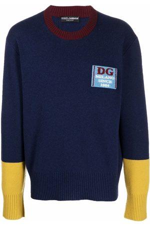 Dolce & Gabbana Man Stickade tröjor - Chest-logo knit jumper