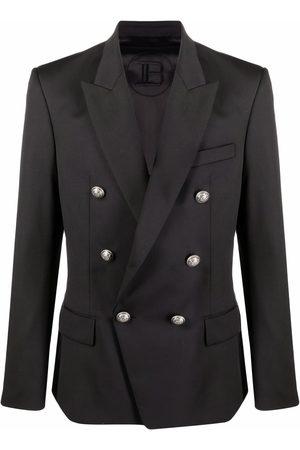 Balmain Man Kavajer - Double-breasted wool blazer