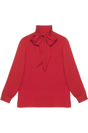 Gucci 2015 Re-Edition silk shirt with bow