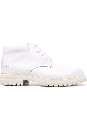 COMMON PROJECTS Man Boots - Leather lace-up ankle boots