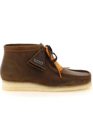 Clarks Wallabee leather lace-up boots