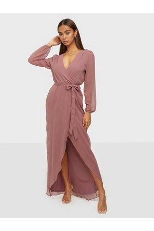 NLY Kvinna Festklänningar - So Sweet Puff Sleeve Dress Maxiklänningar