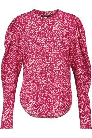 Isabel Marant Bavali printed stretch-silk blouse