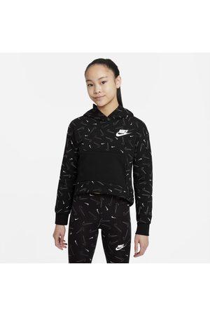Nike Flicka Hoodies - Huvtröja i fleece med tryck Sportswear för ungdom (tjejer)