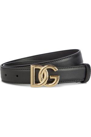Dolce & Gabbana DG leather belt