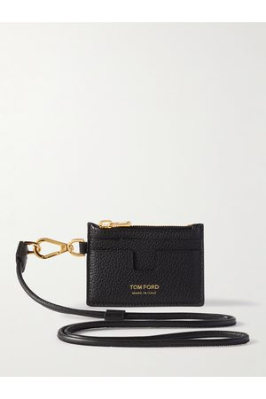 Tom Ford Leather Zipped Cardholder with Lanyard