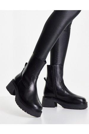 ASOS – Ascend – Svarta sockboots av premiumläder- /a