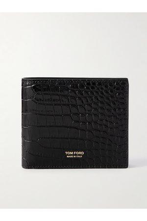 Tom Ford Man Plånböcker - Croc-Effect Leather Billfold Wallet