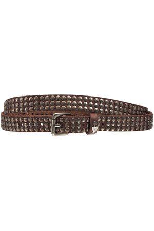 HTC 2cm Studded Leather Belt