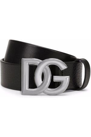 Dolce & Gabbana Bälte i kalvskinn med logotypspänne