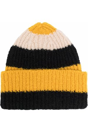La DoubleJ Stripe-pattern knitted beanie