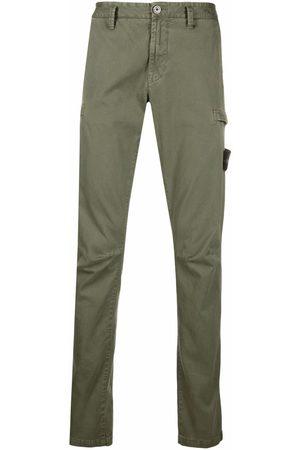 Stone Island Man Dressade byxor - Logo-patch straight-leg trousers