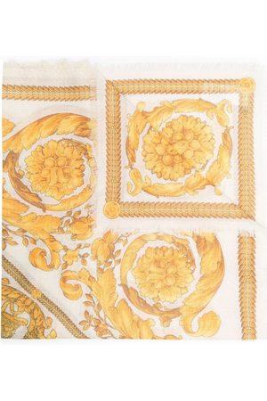 Versace Man Sjalar - Baroque Printing White Scarf