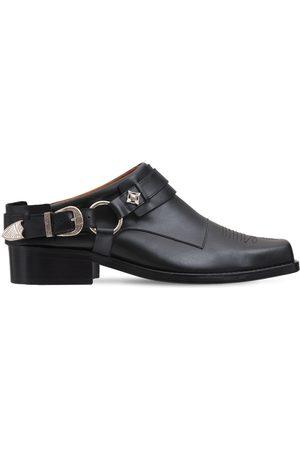 TOGA VIRILIS Leather Buckle Loafers