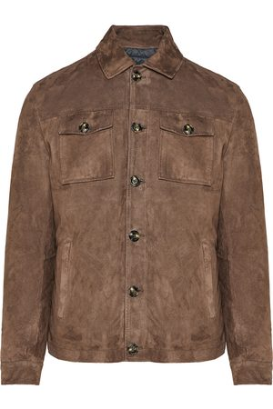 BARBA Suede leather jacket