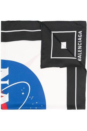 Balenciaga Sjalar - Nasa-print scarf