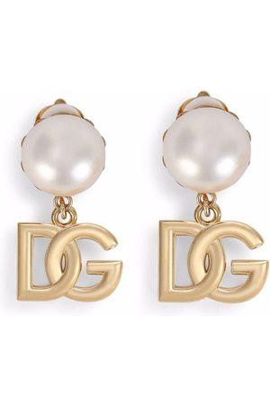 Dolce & Gabbana Man Örhängen - DG clipsörhängen med logotyp