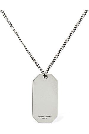 Saint Laurent Man Halsband - Plaque Long Necklace