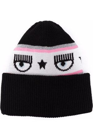 Chiara Ferragni Kvinna Hattar - Logomania knit beanie hat