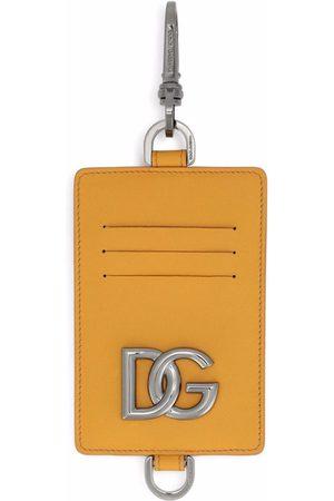 Dolce & Gabbana Clip-on leather cardholder