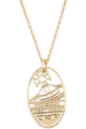 Vivienne Westwood Man Halsband - Logo-plaque chain necklace