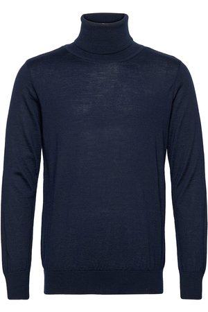 Far Afield Finlay Roll Neck Knitwear Turtlenecks Blå