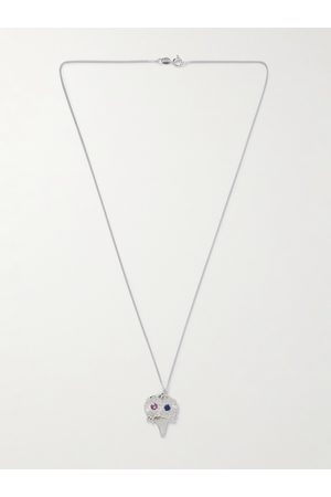 Bleue Burnham The Bouquet Sterling and Sapphire Pendant Necklace