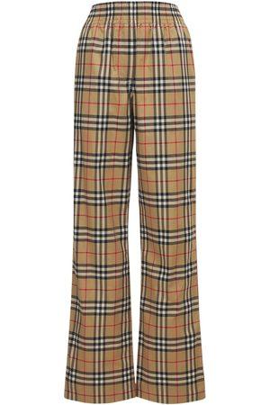 Burberry Louane Check Stretch Cotton Pants