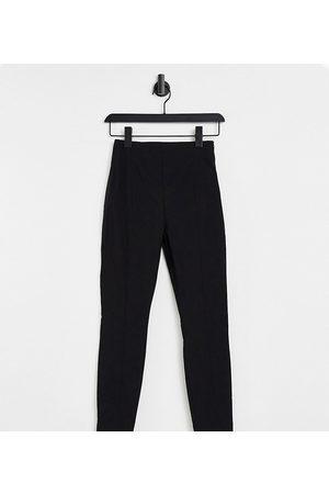 ASOS Petite –Svarta byxor med hög midja och extra smal passform- /a