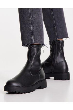 ASOS DESIGN Kvinna Ankelboots - – Anton – Svarta sockboots- /a