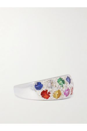 Bleue Burnham Riviera Recycled Sterling Sapphire Ring