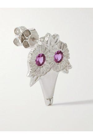 Bleue Burnham Man Örhängen - Bouquet Recycled Sterling Sapphire Single Earring
