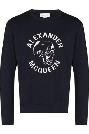 Alexander McQueen AMQ EMB SKULL LOGO CRW SWT BLU