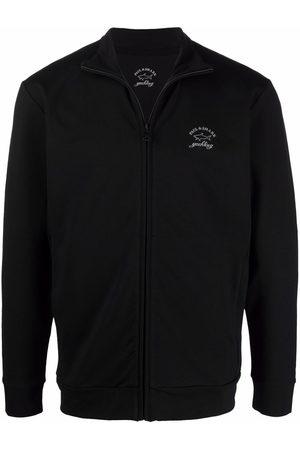 Paul & Shark Logo-print zip-up sweatshirt