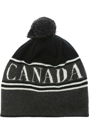 Canada Goose Kvinna Hattar - Wool hat with a logo